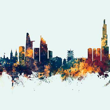 Ho Chi Minh City Vietnam Skyline by ArtPrints