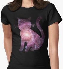 Electric Handkerchief | Space Kitty Women's Fitted T-Shirt