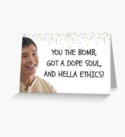 Jason, The Good Place tarjeta de cumpleaños, tarjetas de felicitación meme Tarjeta de felicitación