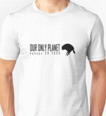 Endangered animals - Kakapo Our only planet black print Slim Fit T-Shirt