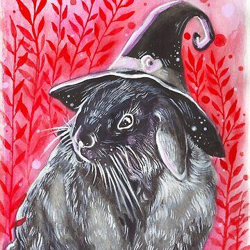 Halloween Witch Rabbit ( Inktober 11 ) by artbysavi