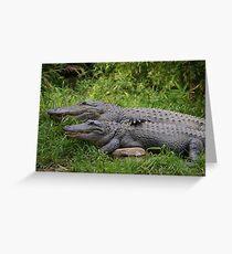 """alligator romance"" Greeting Card"
