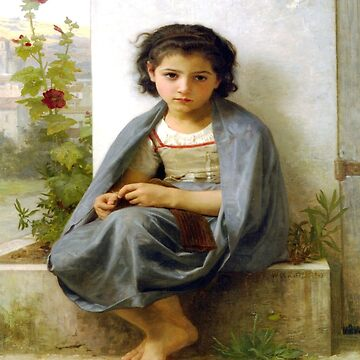 The Little Knitter-William Adolphe Bouguereau by LexBauer