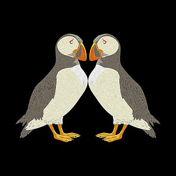 Funny Puffin - Colorful Bill Seafowl Bird Alcidae Short Neck Tufted Humor by stuch75