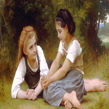 The Nut Gatherers-William Adolphe Bouguereau by LexBauer