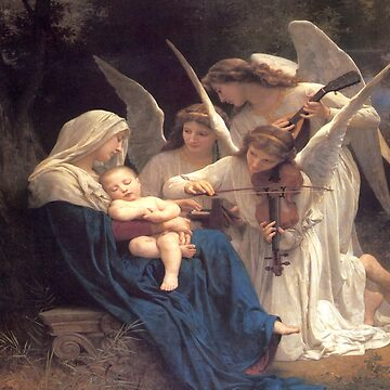 Song of the Angels-William Adolphe Bouguereau by LexBauer