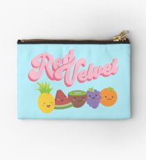 Red Velvet Zipper Pouch