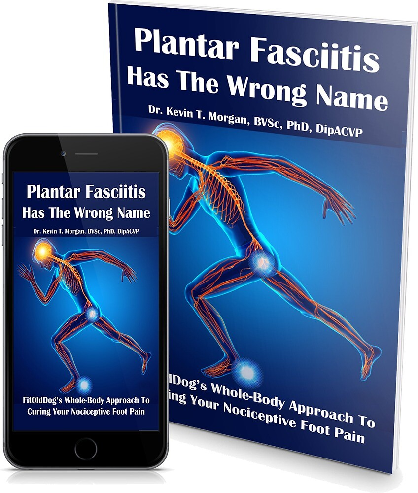 Plantar Fasciitis Has The Wrong Name eBook and Paperback via Amazon by FitOldDog