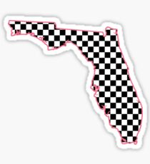 Kariertes Florida - Rosa Sticker