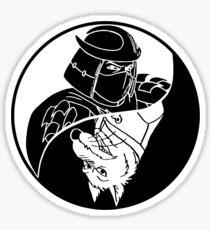 TMNT - Yin Yang - Shredder & Splinter 04 - White Sticker