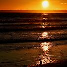 Glowing sunset over Swansea, South Wales by Sarmorrow