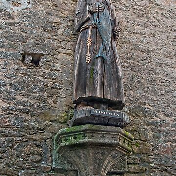 Wooden Statue of Saint Goustan  - Auray, Morbihan, Brittany, France by Buckwhite