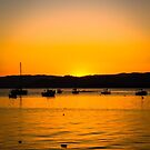 Sunset in Florianopolis, Brazil by Helissa Grundemann
