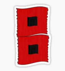 Hurricane Warning Flags - Storm Flags Sticker