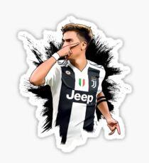 Paulo Dybala Mask Celebration Juventus Illustration Design Sticker