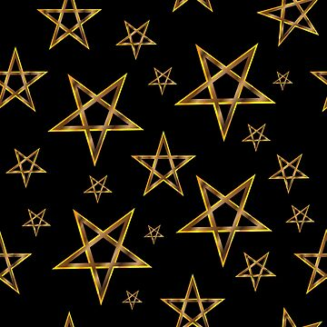 gold pentagram by Danler
