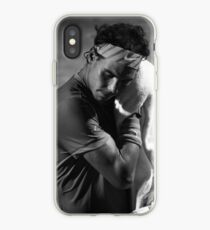 Rafa toweling off (B&W) iPhone Case