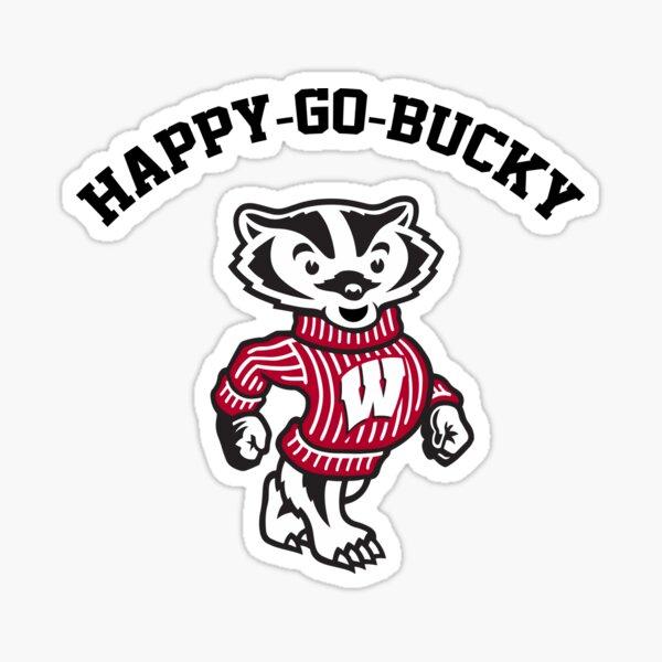 Happy-Go-Bucky Sticker