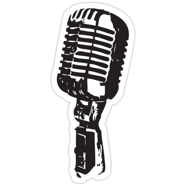 Quot Microphone Quot Stickers By Karl Whitney Redbubble
