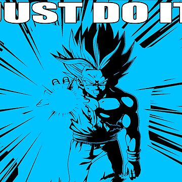 "Gohan ""Just Do It"" with White Letter/Neon Blue by mugenjyaj"