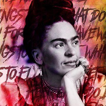 Frida Kahlo Grunge by edleon