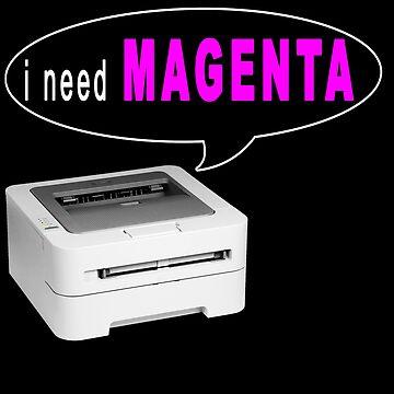 Printer Magenta Meme by Huschild
