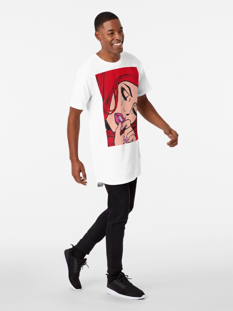 Alternate view of Red Hair Crying Comic Girl Long T-Shirt