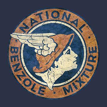 Ultra-Vintage National Benzole Mixture Emblem by Lidra