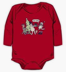 Present For Santa Claus Long Sleeve Baby One-Piece