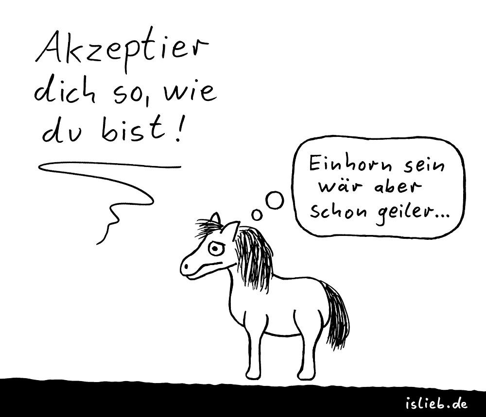 Acceptance is love cartoon by islieb