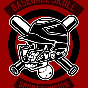 Sports Baseball Skull by Skullz23