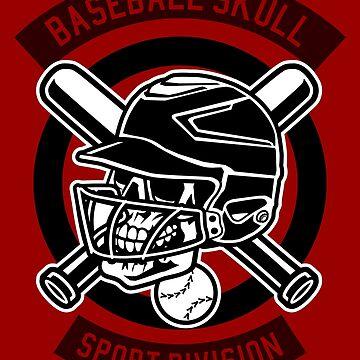 Sports Baseball Skull by Skullz23