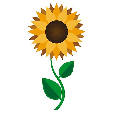 Flat Design - Sun Flower Forever Sunshine - Gift Idea by vicoli-shirts