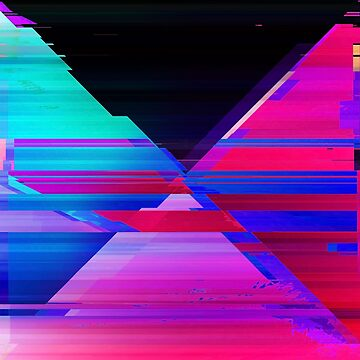 Distorted Glitch Waves - Glitch Art Print by burning