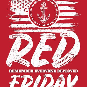 Remember Deployed Red Friday Navy Anchor by StudioMetzger
