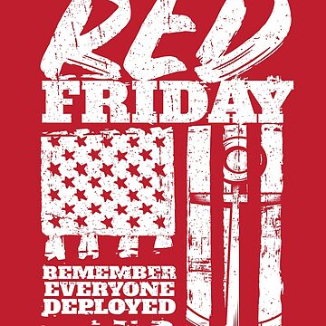 Red Friday Remember Deployed Navy by StudioMetzger