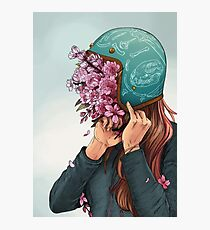 A Head full of Daisies and Daydreams - Women Who Ride Photographic Print