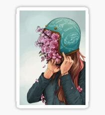 A Head full of Daisies and Daydreams - Women Who Ride Sticker