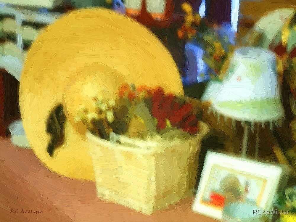 Still Life with Straw Hat by RC deWinter
