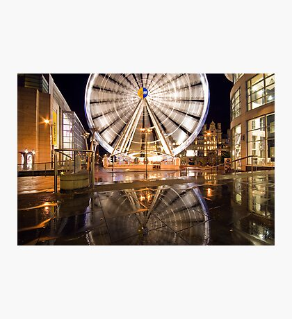 Manchester Wheel Reflection Photographic Print