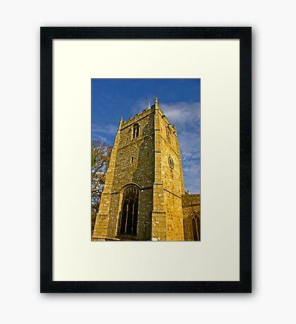 Church Tower - Romaldkirk Co Durham Framed Print