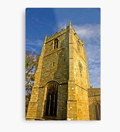 Church Tower - Romaldkirk Co Durham Metal Print