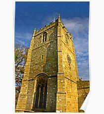 Church Tower - Romaldkirk Co Durham Poster