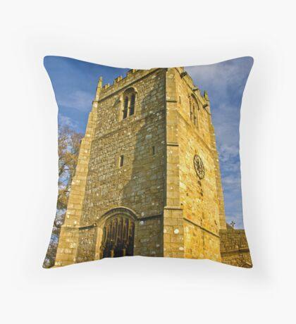 Church Tower - Romaldkirk Co Durham Throw Pillow