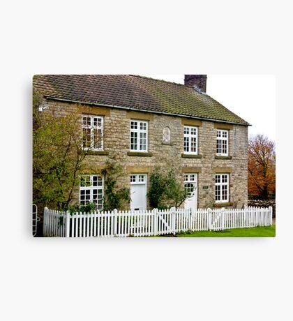 Cottages  c1892 Old Byland-North Yorkshire. Canvas Print