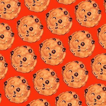 Cookie Pattern - Red by KellyGilleran