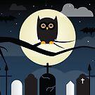 Halloween Scene Owl by Gold Target