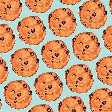 Cookie Pattern - Blue by KellyGilleran