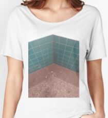#flooring #bathroom #tile #architecture #square #pattern #mosaic #clean #colorimage #nopeople #wallbuildingfeature #builtstructure #city Women's Relaxed Fit T-Shirt