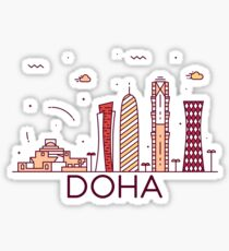 Doha, Qatar Sticker